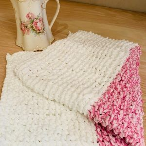 NWT Handcrafted Knit baby blanket